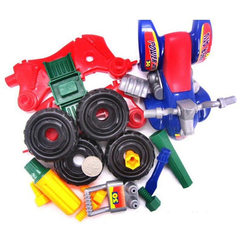 DIY Schroef Moer Groep Geïnstalleerd ATV Motorfiets Plastic Puzzel Educatief Demontage Motorfiets Strand Fiets Speelgoed voor Kinderen
