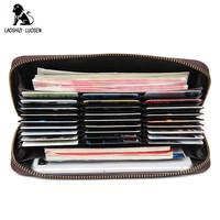 Rfid Multi card Men Wallet 27 Slots Card Holder Phone Pocket Genuine Leather Male Wallets Brand Designer Man Long Clutch Purses
