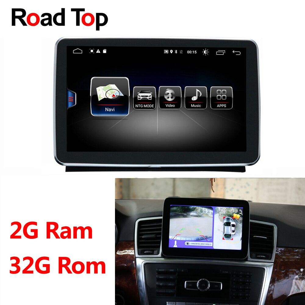 Android 8.1 Octa 8-Core CPU 2 + 32G Tela Rádio Do Carro Unidade de Cabeça de Navegação GPS Bluetooth Wi-fi para Mercedes Benz ML GL W166 X166
