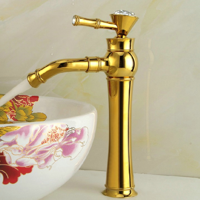 BECOLA Luxury Basin Faucet Bathroom Gold Faucet Deck Mounted Single Handle Hot and Cold Water Sink Tap B-1014M free shippingBECOLA Luxury Basin Faucet Bathroom Gold Faucet Deck Mounted Single Handle Hot and Cold Water Sink Tap B-1014M free shipping