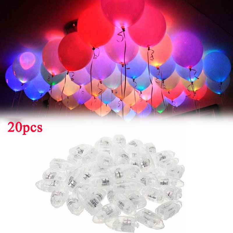 20pcs LED Lamp Light Up Balloon Lights Xmas Christmas Birthday Party Decoration