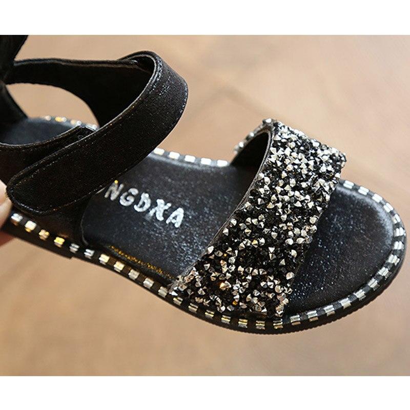 Gilrs sandalen schoenen merk kinderen zomer hakken strass prinses - Kinderschoenen - Foto 5