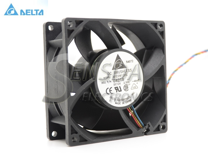 цены на Wholesale Delta AFC0912DE For 4700 8400 GX280 P/N:P2780 DC 12V 2.5A 9CM 9038 high-speed cooling fan в интернет-магазинах