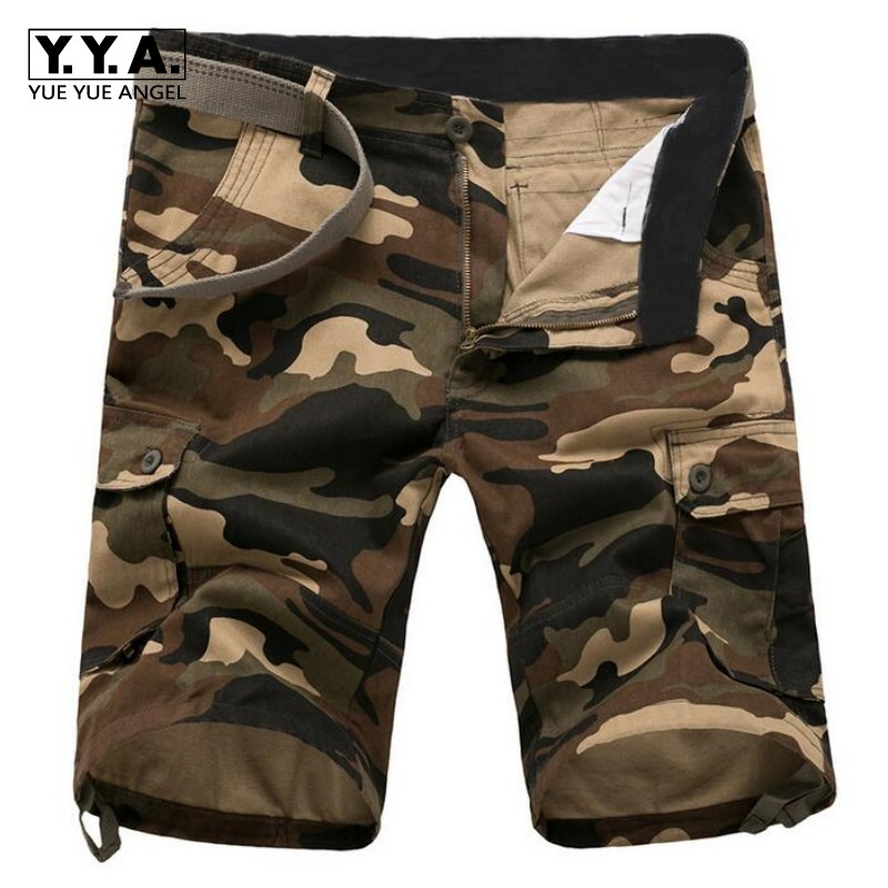 2018 New Fashion Mens Summer Military Camouflage Shorts For Man Cotton Baggy Combat Cargo Casual Short Pants Plus Size 29-44