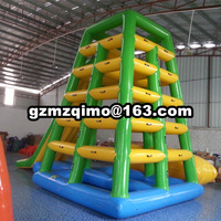 Outdoor use water park inflatable floating water slides