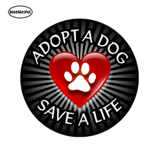 HotMeiNi 13cm x 13cm Car Styling Dog Paw Print Funny Decal Waterproof Car Sticker Adopt a Dog Save a Life Bumper Accessories цена и фото