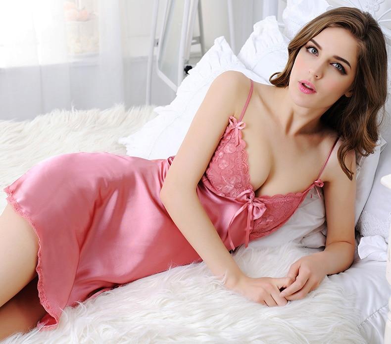 Sleepwear nightdress nightgrown sexy lingerie home clothes for women Mini night dress negligees female robe sleepwear