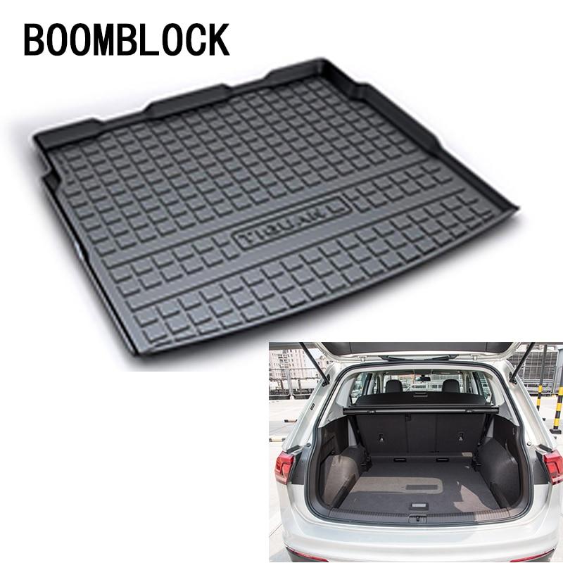 BOOMBLOCK Per VW Volkswagen Tiguan MK2 1 2009-2015 2016 2017 2018 Bagagliaio di Un'auto Zerbino Vassoio Pavimento Tappeto Pad protezione Accessori Auto