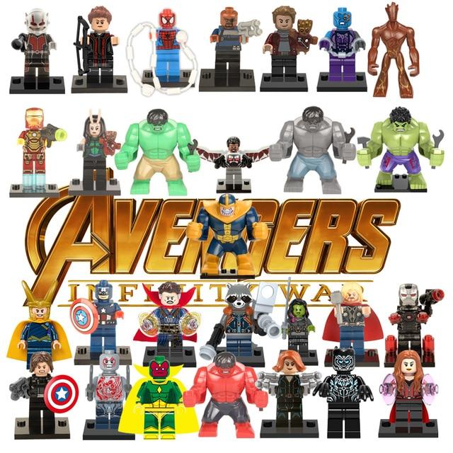 נוקמי גיבורים על אבני בניין תואם עם LegoINGlys Deadpool מארוול איש איש ברזל Thor נמלה צעצועים לילד תאנסו האלק