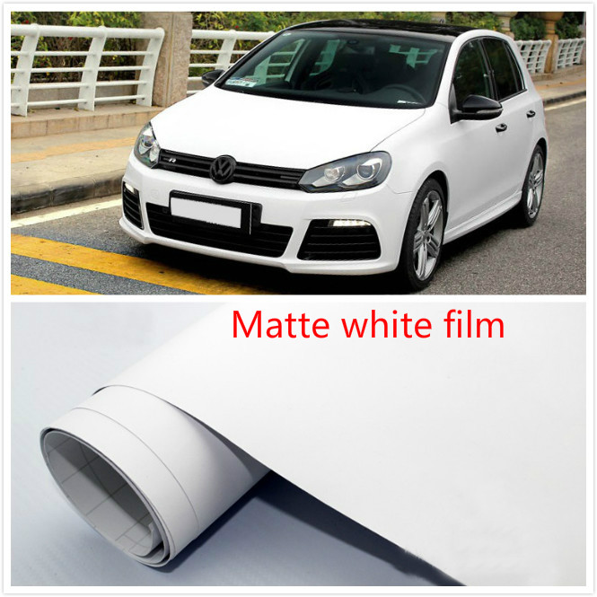 100mm x152cm Matte white Vinyl Wrap Air Release Bubble Free Sticker Decal Film Tape Emblem Car styling