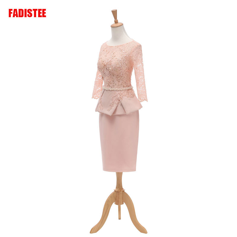 FADISTEE New Arrival Elegant Dress Mermaid Mother Of The Bride Plus Size Vestido De Noiva Robe De Mariee Pearls Short Lace Frock