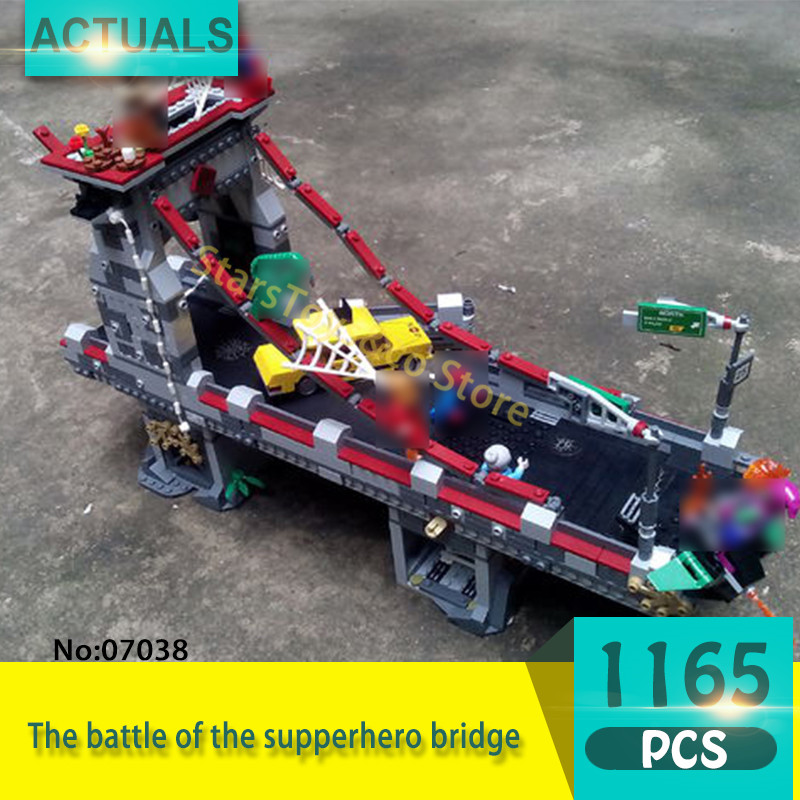 Lepin 07038 1165Pcs Super heroes Series The battle of the supperhero bridge  Building Blocks Bricks Toys For Children  Gift super heroes angel spike willow corderlia buffy the vampire slayer series building blocks collection toys for children kf6018