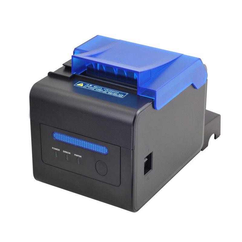 Alta velocidade de 300 milímetros/s de Alta estabilidade da cozinha 80 milímetros auto cortador de impressora POS impressora USB + Ethernet + interface Serial grande orador lembrar