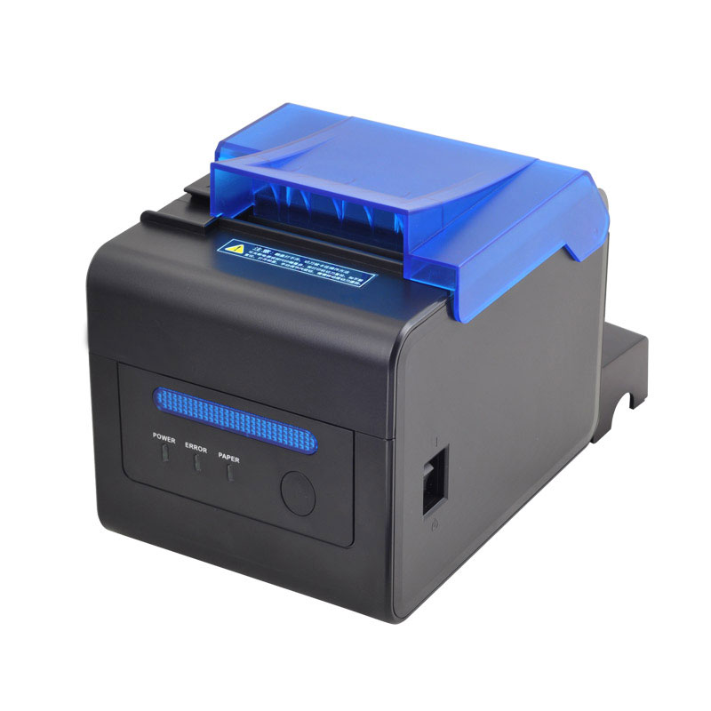 High Speed 300mm/s High Stability Kitchen Printer 80mm Auto Cutter USB+Ethernet+Serial Interface POS Printer Big Speaker  Remind