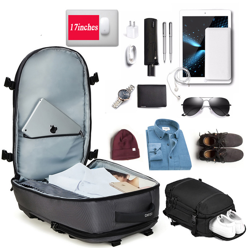 Man Woman Multi-function Layered Backpack Shoes Compartment Gym Sports Business Waterproof Bags Big Capacity Laptop Storage