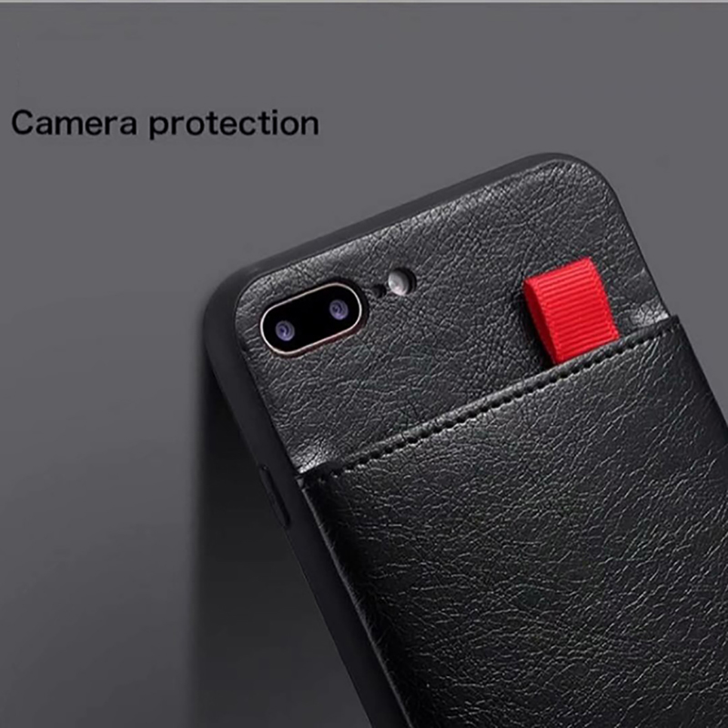 Accessory - Haissky Leather Wallet Phone Case For iPhone X 6 6s 7 8 Plus Case Luxury Pull Type Card Slots Back Cover For iPhone X 10 8 Plus