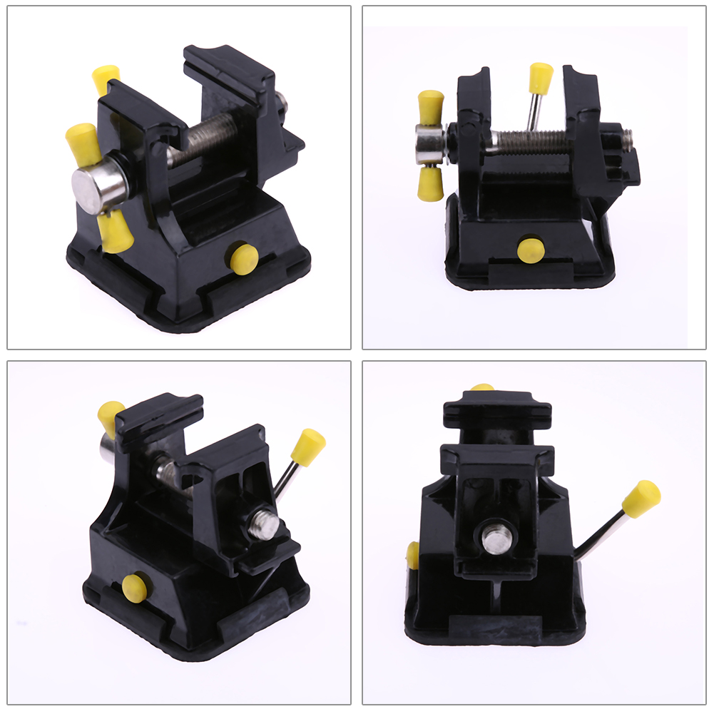Mini DIY Metal Table Bench Vise Press Clamp Carving Fixture Professional Mechanic Tools for Easy Repair Welding and Disassembly