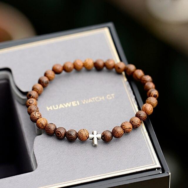 Bracelet Perle Bois Bouddhiste