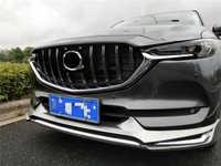 AUTO FRENTE de MALHA EXTERIOR MÁSCARA TRIMS CAPAS AMORTECEDOR DIANTEIRO ABS MODIFICADO CX-5 CX5 AUTO GRILLE GRILL GRILLS FIT PARA MAZDA 2017 2018