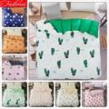 Green Cactus Pattern 1 piece Quilt Comforter Duvet Cover Adult Kid Child Soft Cotton Bedding Bag 150x200 180x220 200x230 220x240