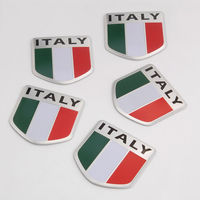BBQ FUKA 5pcs Car Italy Italian Flag Emblem Universal Vehicle Sport Decal Badge Decoration Sticker Car