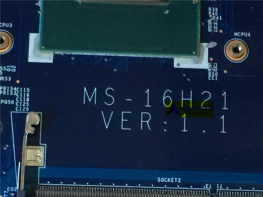 Image 2 - genuine MS 16H21 FOR MSI GS60 2PC LAPTOP MOTHERBOARD WITH I7 4710HQ CPU AND  GTX860M Test OK-in Computer Cables & Connectors from Computer & Office