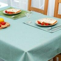 ที่เรียบง่ายศิลปะสมัยใหม่ผ้าปูโต๊ะผ้าลินินขนาด