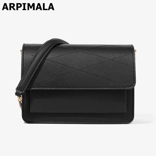 ARPIMALA 2017 Women Leather Handbags Designer Chain Crossbody Bags for Women  Fashion Quilted Bag High Quality f7b6fff2bfbf9