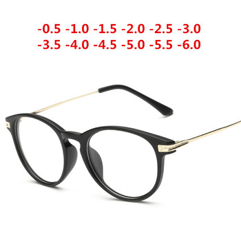 Matte Black Retro Afgewerkt Bijziendheid Bril Bijziend Dioptrie Bril Bijziendheid Bril 1.0,-1.5,-2.0, -2.5,-3.0,-3.5,-4.0, ~-6.0