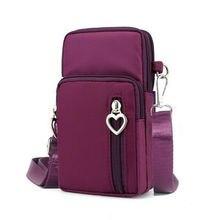 Новая сумка для монет, мини нейлоновая сумка-мессенджер на плечо для сотового телефона, сумка-кошелек на ремне, водонепроницаемая сумка-кошелек