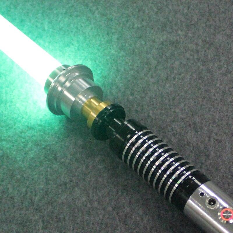 Qualité supérieure Chaude Sabre Laser matériau métallique Luc Noir Série Light Saber Épée 110 cm Longueur Avec led Charge Garçon cadeau d'anniversaire - 3
