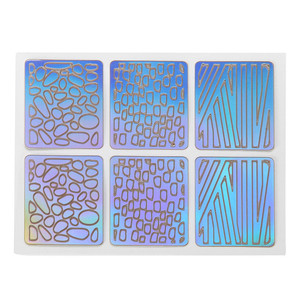 Image 3 - 12 Sheets New Nail Irregular Grid Stencil Reusable Manicure Stickers Stamping Template Nail Art Tools Halloween 9.8
