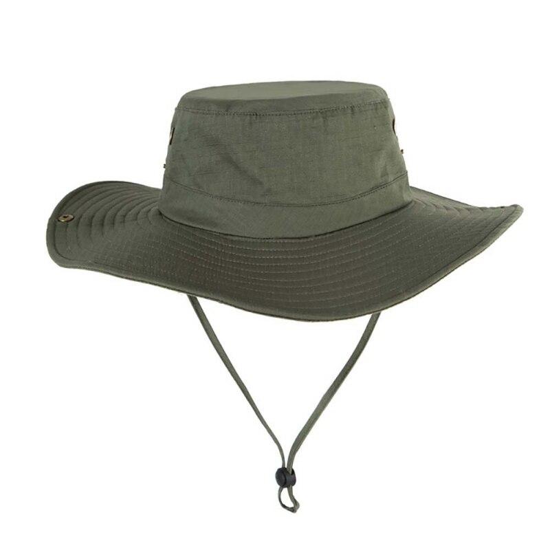 624b86e0fea3fb UPF50+ Sun Hat Men Mesh Bucket Hat Women Summer Fishing Hiking Cap Wide  Brim UV Protection