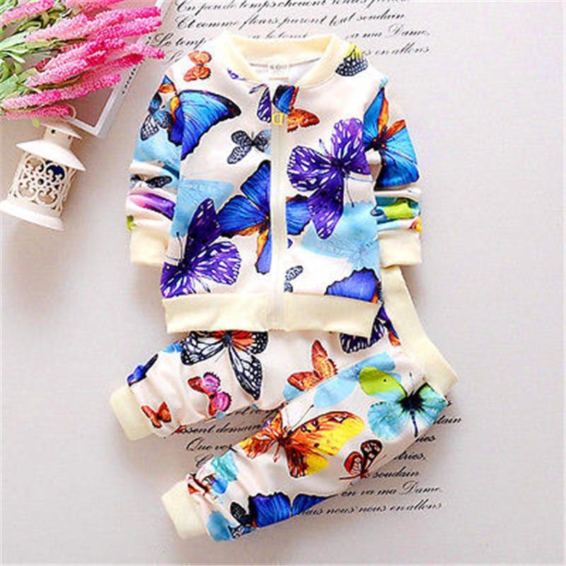 Newbaby 2 PCS Bayi Balita Anak Perempuan Jaket Pakaian Kupu-kupu - Pakaian anak anak - Foto 5