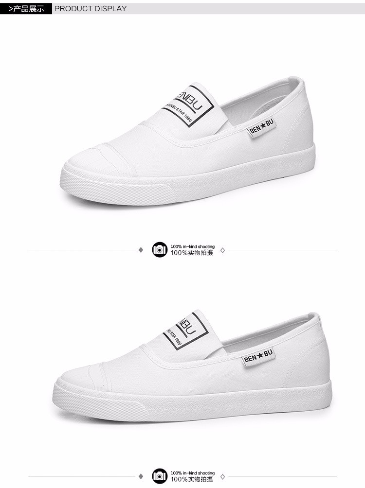 KUYUPP Brand New Woman White Shoes 2016 Summer Casual Flat Slip On Canvas Shoes Round Toe Women\'s Flats Big Size 35-40 PX107 (16)