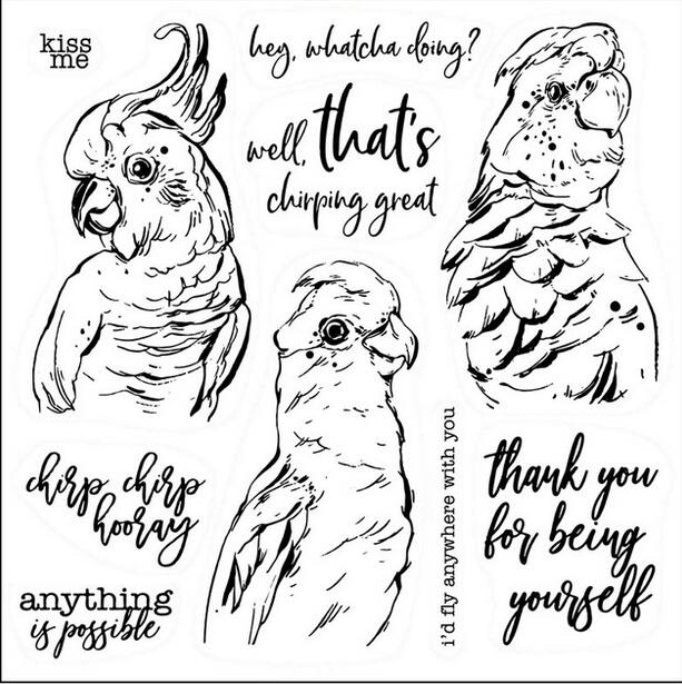 Buy Birds Transparent Clear Stamps for Scrapbooking Paper Cards Making New for only 2.93 USD
