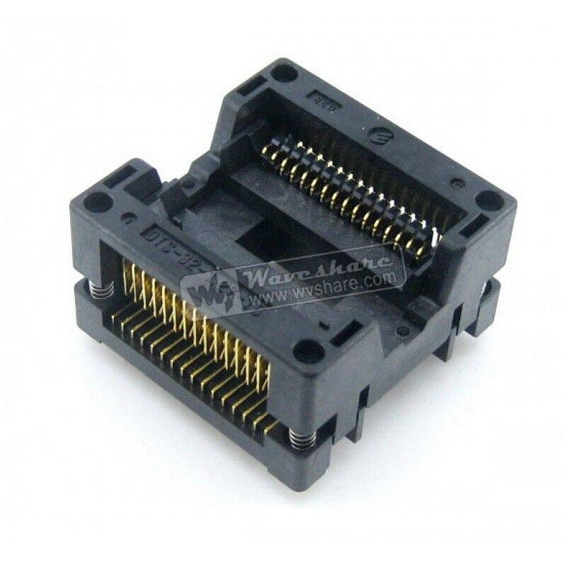 ФОТО SOP32 SO32 SOIC32 OTS-32-1.27-16 Enplas IC Test Burn-In Socket Programming Adapter 11.25mm Width 1.27mm Pitch