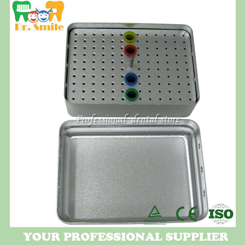 120 Hole Dental FG RA Bur Holder Block For Burs Endo File Gutta Percha Points dental sterilization box for gutta percha root canal file high speed bur disinfection box dental tool box disinfection box sl308