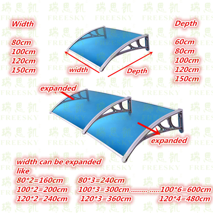 expanded pc awning -