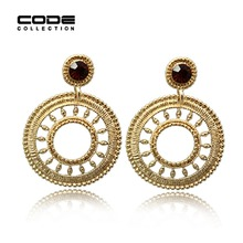 High Quality Vintage Baroque Bohemia Earings Rings Aros For Women Girl Party Wedding Earring Oorbellen Jewelry Accessories