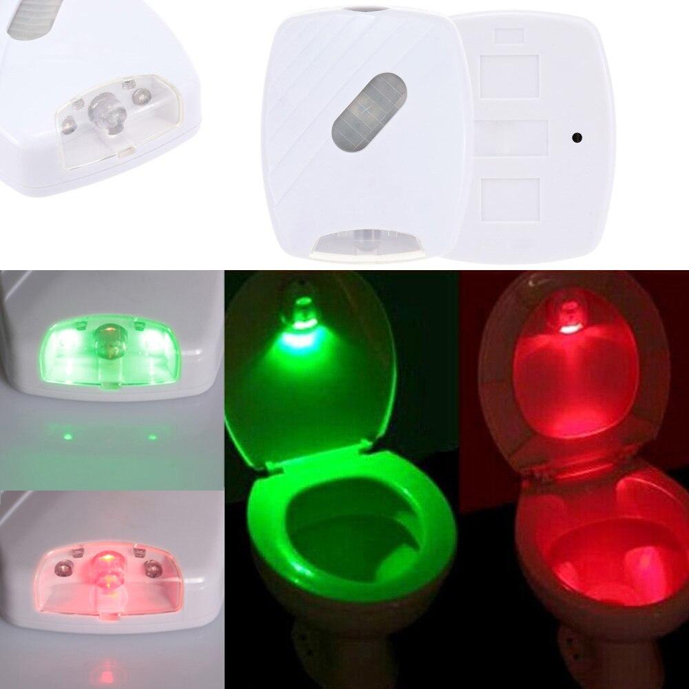 Automatic led energy saving night lamp - Toilet Night Light Auto Sensing Led Seat Lamp Motion Toilet Home Bathroom Red Green Light Lamp