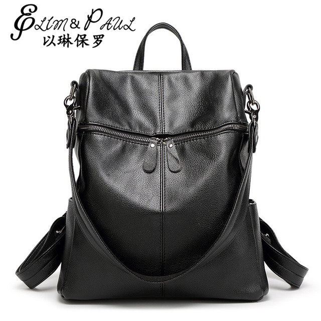 Women Backpack High Quality PU Leather 2017 School Bags For Teenagers Girls Top-handle Backpacks Herald Fashion