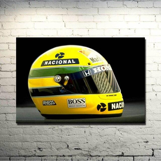 Ayrton Senna F1 Racer da Silva Art Silk Impressão Cartaz 13x20 polegadas Sports Pictures For Living Room Decor 003