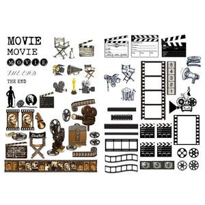 1 PCS Movie Film Element Cosas Kawaii Precut Stickers Scrapbooking Stationery Washi Tape Set School Supplies(China)