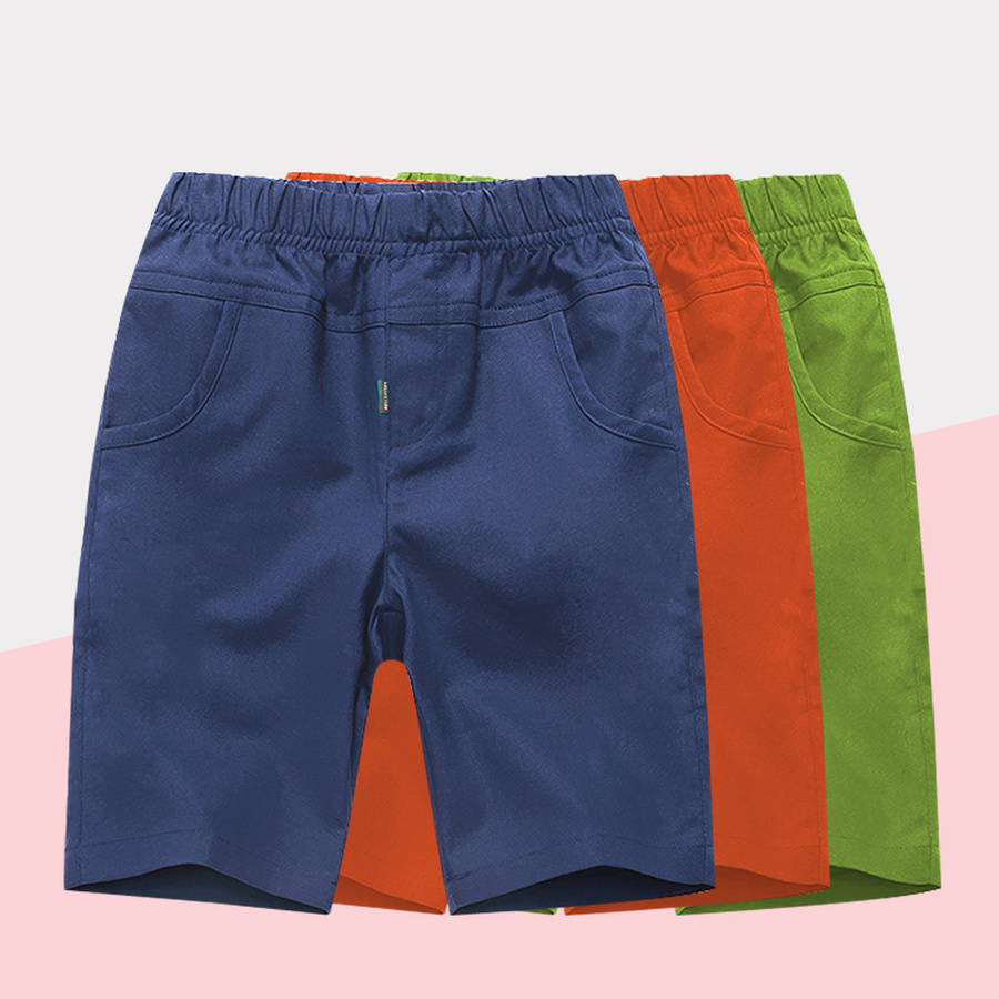Shorts   for Boy Kids Summer Pants Teenage Boys Beach   Shorts   Casual Solid Cotton Elastic Waist Board   Short   Pants 8 10 12 14