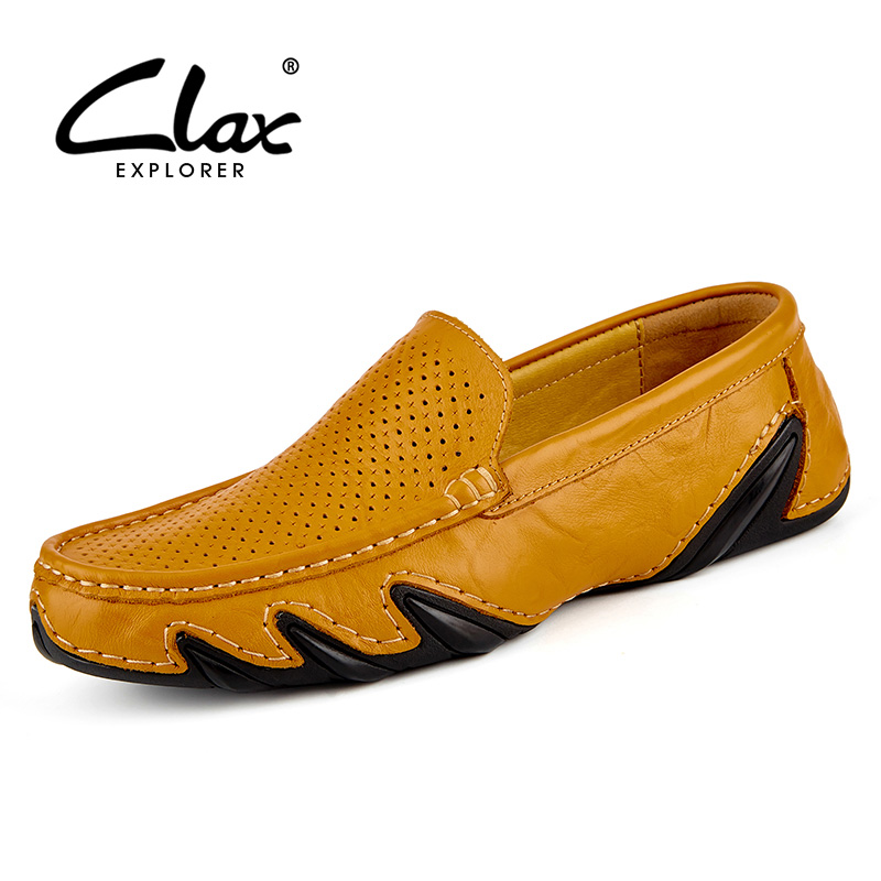 цены Clax Men's Summer Loafers 2017 Casual Flats Shoes for Male Hollow Breathable Moccasins Black Leather Footwear