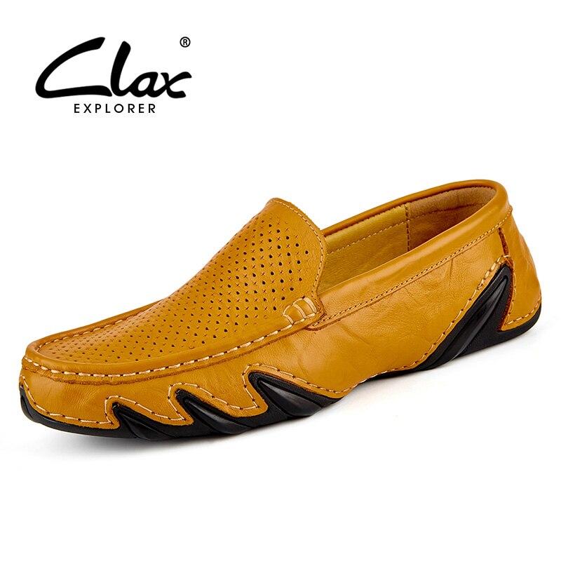 Clax hommes D'été Mocassins 2017 Appartements Occasionnels Chaussures pour Hommes Creux Respirant Mocassins En Cuir Noir Chaussures
