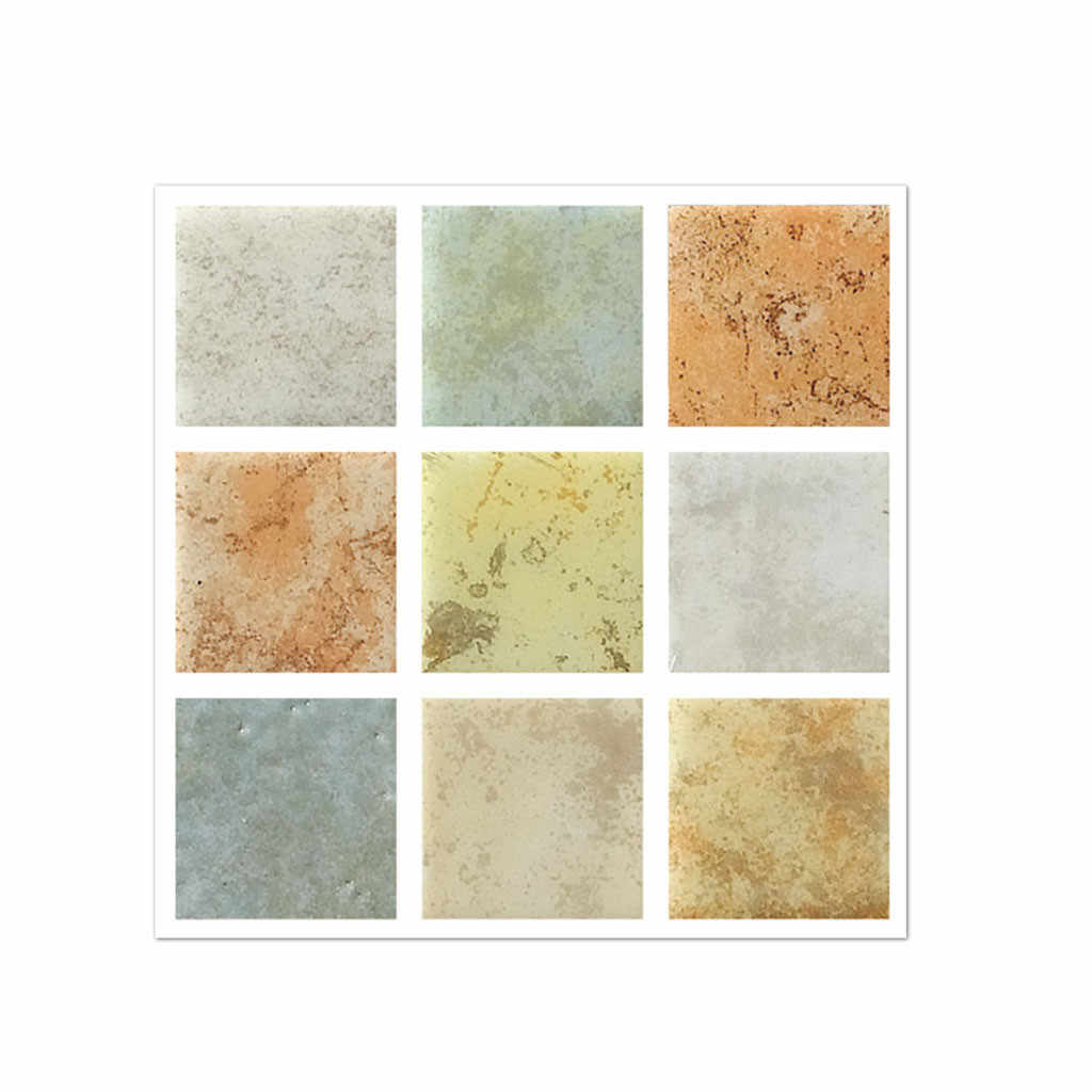 Duvar Sticker 20 Adet Kendinden Yapışkanlı Düzlem Karo zemin çıkartmaları Çıkartması Banyo mutfak dekoru Wallstickers PVC Wallpaper19JAN22