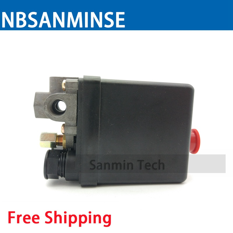 NBSANMINSE SMF 10 - L 1/4 NPT Air Compressor Pressure Switch Pressure Operated Electric Switch Easy Mounting Pressure Switch