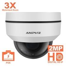 Anpviz 1080P Mini Dome PTZ IP Camera 2MP Motorized Zoom 2.8-8mm 3X Outdoor CCTV Secuirty Video Surveillance Cameras IR 30M P2P